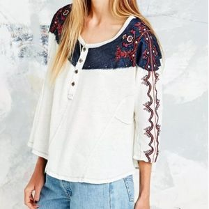 """FREE PEOPLE """"Rio Embroidered Top"""""""